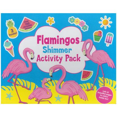 Flamingos Shimmer  Activity  Pack