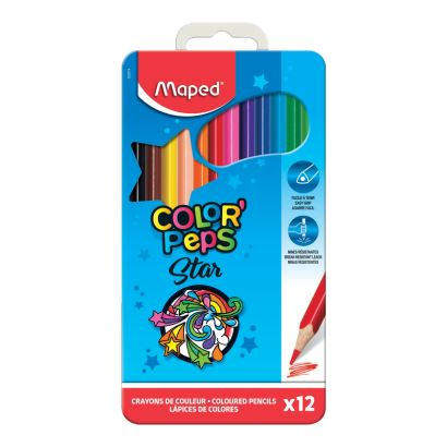 Maped Color'Peps 12 Renk Kalem Boya Metal Kutuda
