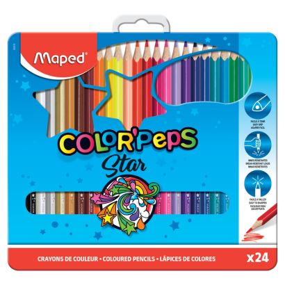 Maped Color'Peps 24 Renk Kalem Boya Metal Kutuda