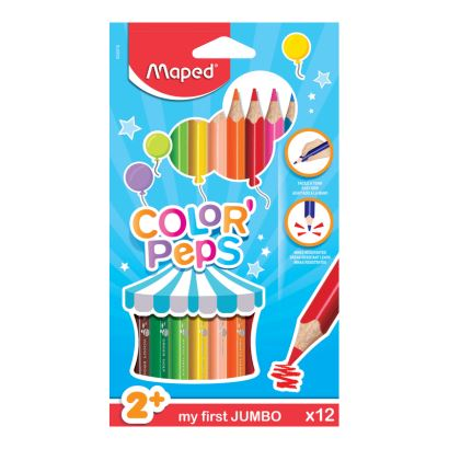 Maped Color'Peps 12 Renk Jumbo Kalem Boya