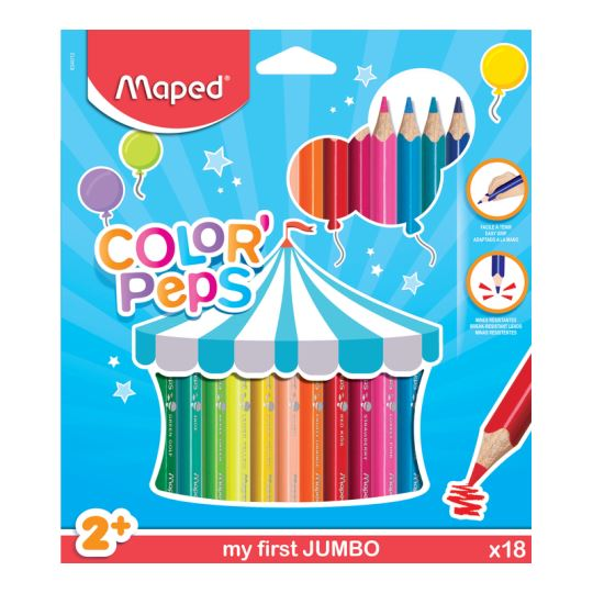 Maped Color'Peps 18 Renk Jumbo Kalem Boya