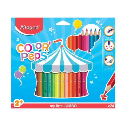 Maped Color'Peps 24 Renk Jumbo Kalem Boya