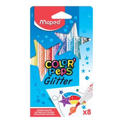 Maped Color'Peps 8 Renk Simli Keçeli Kalem