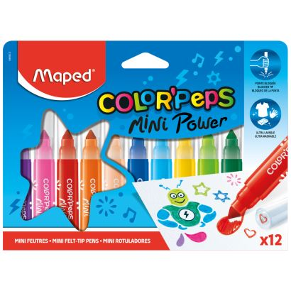 Maped Color'Peps 12 Renk Mini Jumbo Keçeli Kalem