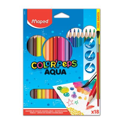 Maped Color'Peps 18 Renk Kuru Sulu Kalem Boya
