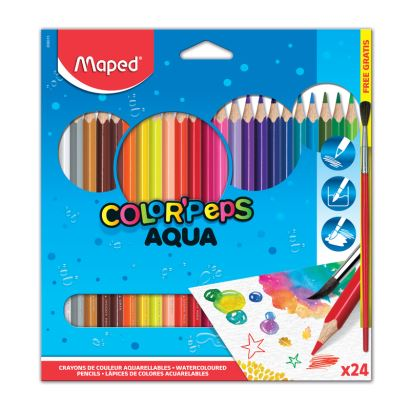 Maped Color'Peps 24 Renk Kuru Sulu Kalem Boya