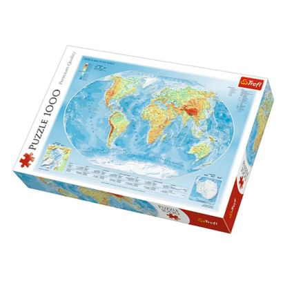 Trefl Physical Map Of The World 1000 Parça Puzzle